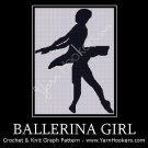 Ballerina Girl - Afghan Crochet Graph Pattern Chart