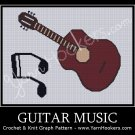 Guitar Music - Afghan Crochet Graph Pattern Chart