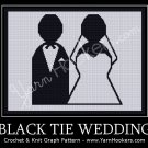 Black Tie Wedding - Afghan Crochet Graph Pattern Chart