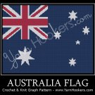 Australia National Flag - Afghan Crochet Graph Pattern Chart