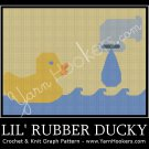 Lil' Rubber Ducky - Afghan Crochet Graph Pattern Chart