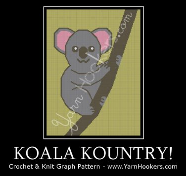 Koala Kountry - Afghan Crochet Graph Pattern Chart