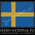 Sweden National Flag - Afghan Crochet Graph Pattern Chart