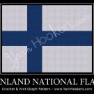 Finland National Flag - Afghan Crochet Graph Pattern Chart