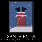 Santa Falls - Christmas - Afghan Crochet Graph Pattern Chart