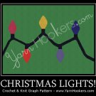 Christmas Lights - Afghan Crochet Graph Pattern Chart