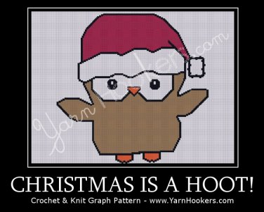Christmas is a HOOT - Afghan Crochet Graph Pattern Chart