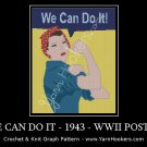 We Can Do It - 1943 - World War II - Propaganda Poster - Women's Rights Afghan