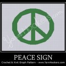 Peace Sign - Afghan Crochet Graph Pattern Chart