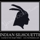 Tribal Silhouette - Afghan Crochet Graph Pattern Chart