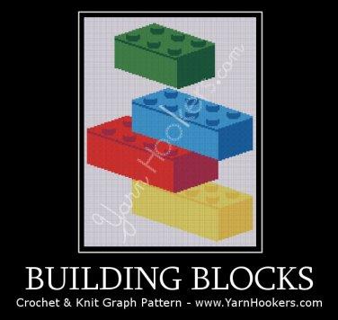 Building Blocks - Afghan Crochet Graph Pattern Chart