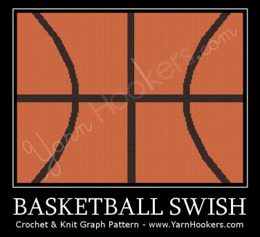 Basketball Swish - Afghan Crochet Graph Pattern Chart