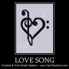 Love Song - Afghan Crochet Graph Pattern Chart