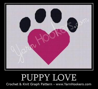 Puppy Love - Afghan Crochet Graph Pattern Chart