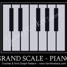 Grand Scale - Piano - Afghan Crochet Graph Pattern Chart