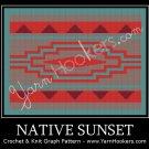 Native Sunrise - Afghan Crochet Graph Pattern Chart
