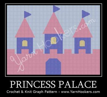 Princess Palace  - Afghan Crochet Graph Pattern Chart