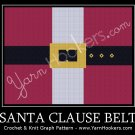 Santa Clause Belt - Afghan Crochet Graph Pattern Chart