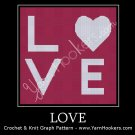 Love - Afghan Crochet Graph Pattern Chart