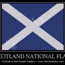 Scotland National Flag - Afghan Crochet Graph Pattern Chart