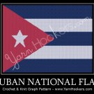 Cuban National Flag - Afghan Crochet Graph Pattern Chart