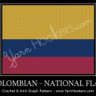 Colombian National Flag - Afghan Crochet Graph Pattern Chart
