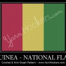 Guinean National Flag - Afghan Crochet Graph Pattern Chart