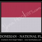 Indonesian National Flag - Afghan Crochet Graph Pattern Chart