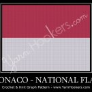 Monacan National Flag  - Afghan Crochet Graph Pattern Chart