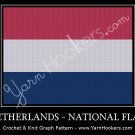 Dutch National Flag - Afghan Crochet Graph Pattern Chart