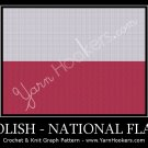 Polish National Flag - Afghan Crochet Graph Pattern Chart