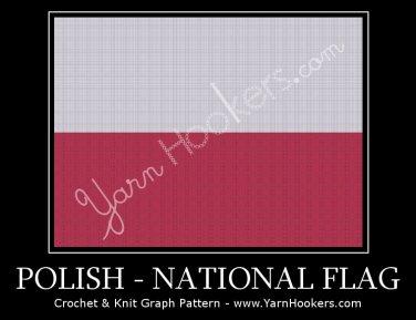 Polish National Flag - Afghan Crochet Graph Pattern Chart