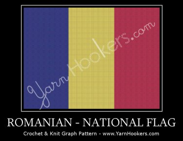 Romanian National Flag - Afghan Crochet Graph Pattern Chart