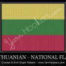 Lithuanian National Flag- Afghan Crochet Graph Pattern Chart
