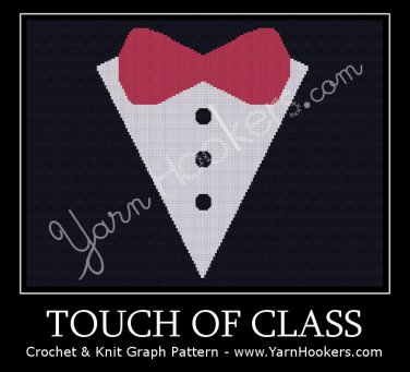 Touch of Class -  Afghan Crochet Graph Pattern Chart
