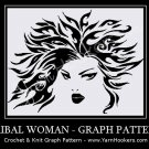 Celtic Tribal Woman - Afghan Crochet Graph Pattern Chart