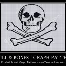 Skull and Bones - Afghan Crochet Graph Pattern Chart