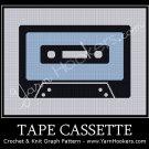 Cassett Tape - Afghan Crochet Graph Pattern Chart