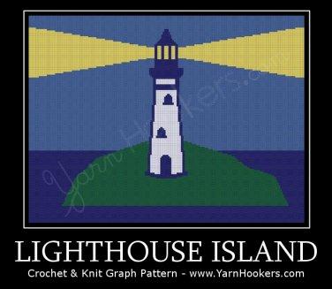 Lighthouse Island - Afghan Crochet Graph Pattern Chart