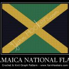 Jamaica National Flag - Afghan Crochet Graph Pattern Chart