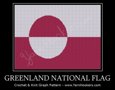 Greenland National Flag - Afghan Crochet Graph Pattern Chart