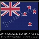 New Zealand National Flag - Afghan Crochet Graph Pattern Chart
