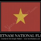 Vietnam National Flag - Afghan Crochet Graph Pattern Chart