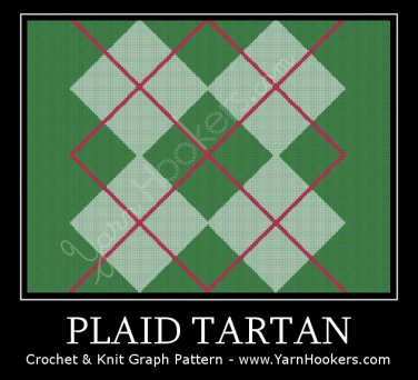 Plaid Tartan - Afghan Crochet Graph Pattern Chart