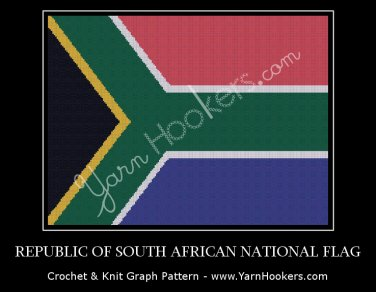 Republic of South Africa National Flag - Afghan Crochet Graph Pattern Chart
