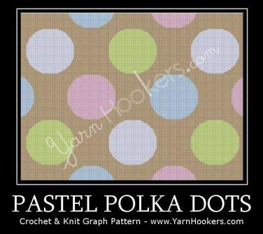 Pastel Polka Dots -  Afghan Crochet Graph Pattern Chart