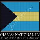 Bahamas National Flag -  Afghan Crochet Graph Pattern Chart