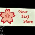 Cherry Blossom - Sakura Flower - Iron On / Sew In - 100% Cotton Fabric Labels (W