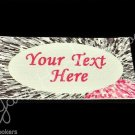 Splatter Painted - Iron On / Sew In - 100% Cotton Fabric Labels (White)
