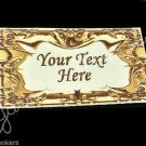 Golden Foil - Iron On / Sew In - 100% Cotton Fabric Labels (White)